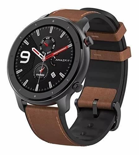 Amazfit GTR 47mm: smartwatch de aleación de aluminio y correa de cuero